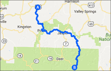 Motorcycle Riding in Arkansas and Missouri - Ozarks - Road Maps