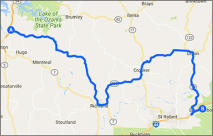 Camdenton to Devils Elbow Map