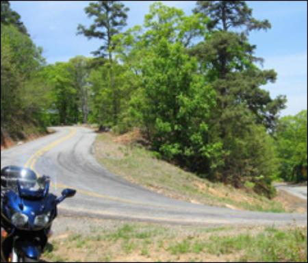 The Arkansas Dragon Ride Map
