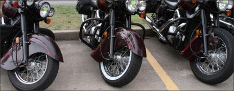 three vulcan motorcycles